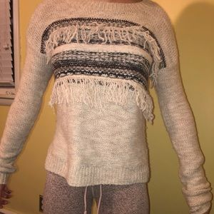 A&f fringed sweater